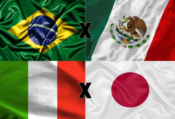 Brasil, Itália, Japão e México